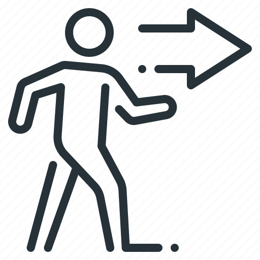 business, go, on the right, person, right, walk icon