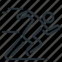 quick, run, runner, rush, speed, start icon