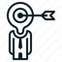 arrow, business, employee, people, target icon