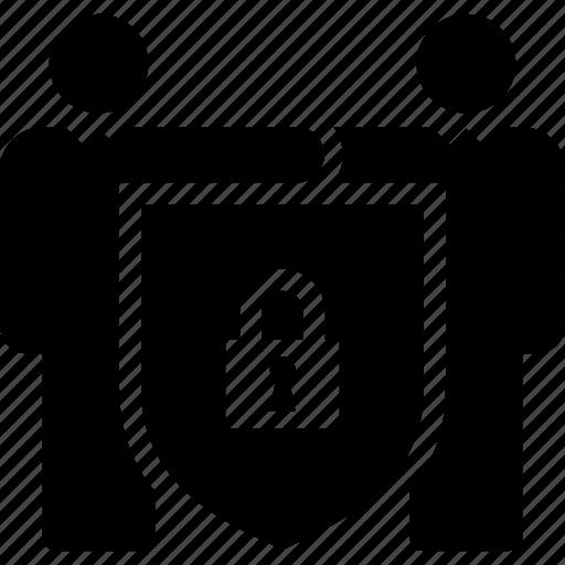 accord, contract, investors, lock, protection, shield, trading icon