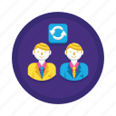 job, man, rotation icon