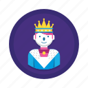 avatar, king, royal icon