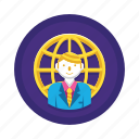 businessman, man, manager icon