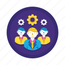 group, management, operations, team icon
