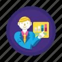 analytics, graph, presentation, statistics icon