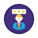rating, star, user icon