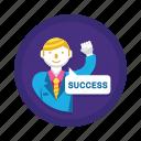 achievement, goal, success icon