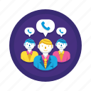 call, group, team, teleconference icon