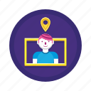 location, pin, placeholder, user icon