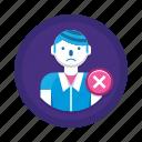 man, user, wrong icon