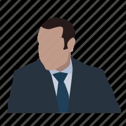 face, financier, head, lawyer, partner, person, sales manager icon