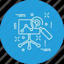 analytics, analyze, business, chart, diagram, report icon
