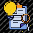 bulb, find, idea, page, project, search, web icon