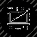 chart, diagram, graph, marketing, presentation, project, report icon