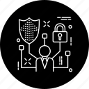 protect, protection, safe, security, seo, staff, user icon