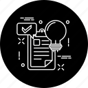 chat, document, idea, lamp, messag, page, project icon