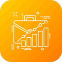 analytics, bag, officewark, preparation, presentation, project, wark icon