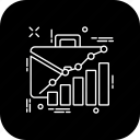 analytics, chart, diagram, preparation, project, report, wark icon
