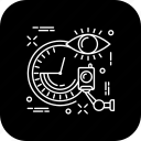 camera, clock, eye, safe, security icon