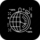 clock, globe, international, seo, work icon