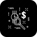 clock, dollar, find, search, time, watch icon