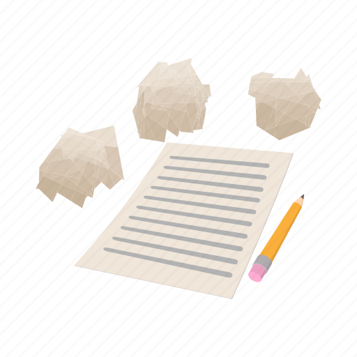 blank, cartoon, note, page, paper, sheet, white icon