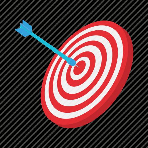 arrow, cartoon, center, dart, dartboard, success, target icon