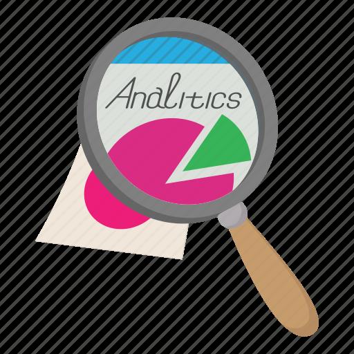 analitics, analyzing, business, cartoon, document, information, paper icon
