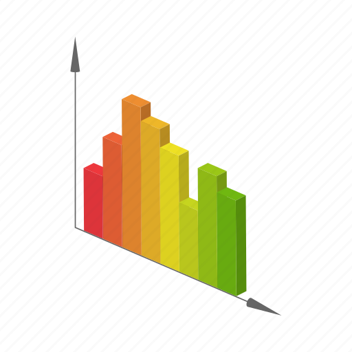 business, cartoon, chart, concept, graph, growth, success icon