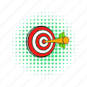 arrow, center, comics, dart, dartboard, success, target icon