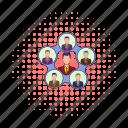 business, comics, hierarchy, leadership, organization, structure, team