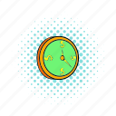circle, clock, comics, pointer, round, time, watch icon