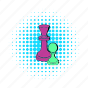 chess, comics, game, king, pawn, play, strategy