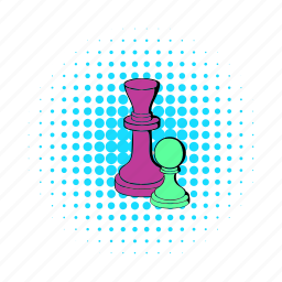 chess, comics, game, king, pawn, play, strategy icon