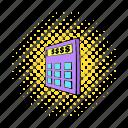 business, calculator, comics, display, electronic, math, mathematics icon