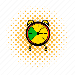 alarm, clock, comics, hour, time, timer, watch icon