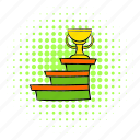award, comics, cup, podium, success, trophy, winner icon