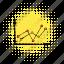 arrow, business, chart, comics, diagram, growth, profit icon