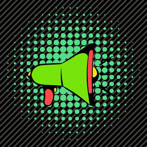 advertising, announcement, business, comics, megaphone, message, speaker icon