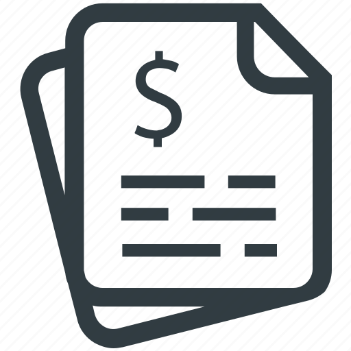 bill, business, document, invoice, paper, payment, receipt icon