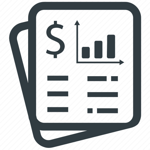 bill, business, document, financial, invoice, receipt icon