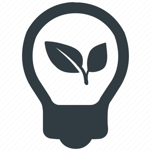 eco, energy, environmental, green, light, plant, power icon