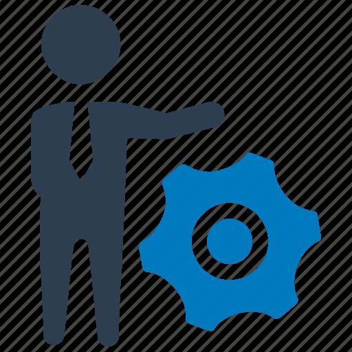 business, gear, service, service provide, settings, specialist icon