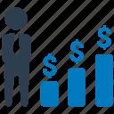 bar chart, bar graph, business, business chart, business growth, businessman icon