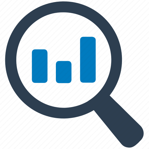 bar chart, bar chart search, data enquiry, report, search icon