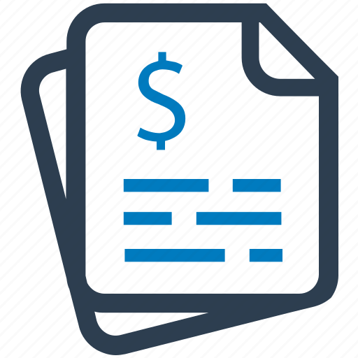 bill, dollar, finance, invoice, receipt icon