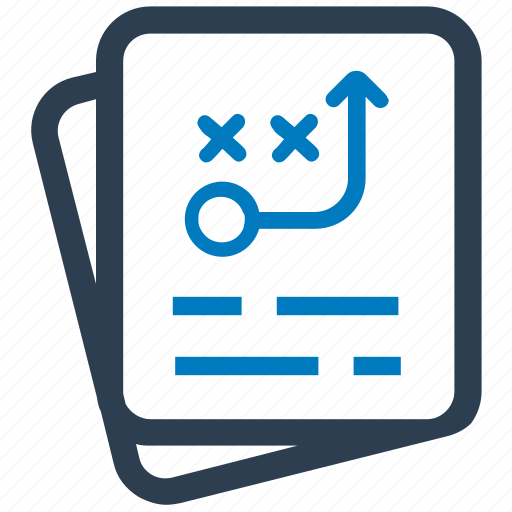 documents, planning, strategy, tactics, ways icon
