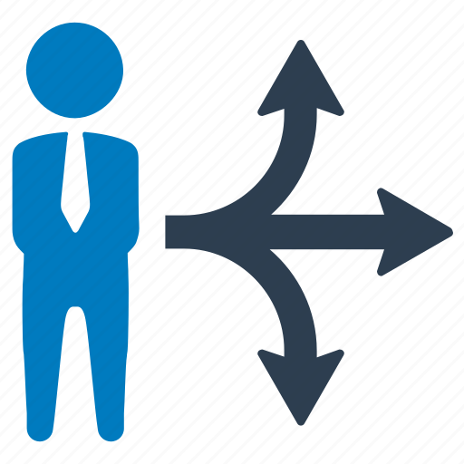 arrow, business, business direction, decision, direction, planning, strategy icon