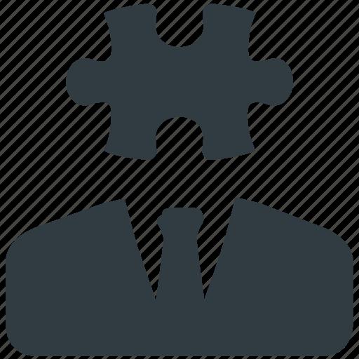 business, idea, piece, puzzle, solution icon