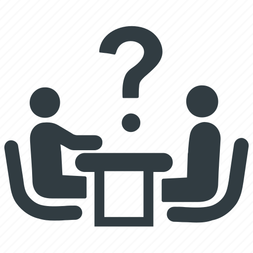 asking, business, discussion, group, meeting, question, solution icon